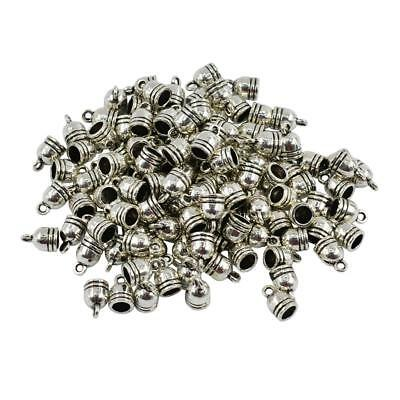 100x Metal Bell Shape Cord End Bead Cap Jewelry Findings for DIY Crafts 5mm