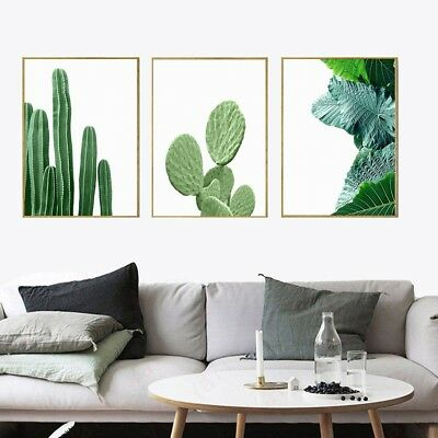 1xModern Nordic Green Plant Leaf Canvas Art Poster Print Wall Picture Home Decor