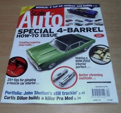 Scale Auto magazine APR 2018 Special 4-Barrel How-To Issue, Muscle Car Interior