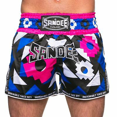 Sandee Inca Muay Thai Blue/Pink Boxing  Shorts