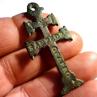 *Patony* BEAUTIFUL CROSS OF CARAVACA OF THE XVII CENTURY 53X25mm....