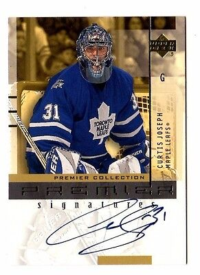 Curtis Joseph Nhl 2001-02 Ud Premier Collection Signatures (Toronto Maple Leafs)