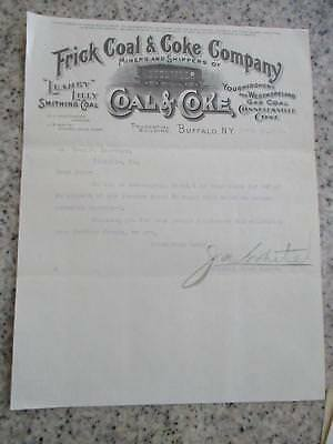 1911 Advertising Letterhead Buffalo Ny Frick Coal & Coke Miners Shippers W/train