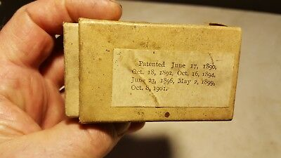 Antique Columbia Cylinder Graphophone Phonograph Reproducer Box 1901