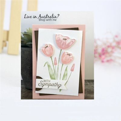 Tulip Flower Metal Cutting Dies Stencil Embossing Scrapbooking Paper Card Making