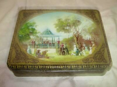 Vintage Arnott's 900g Assortment Picturesque Sunday in the Park Biscuit Tin