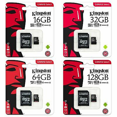Kingston SDCS 16/32/64/128GB MicroSD TF Class 10 UHS-I Flash Card 80MB/s