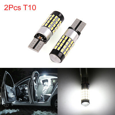 2pcs Canbus T10 W5W 3014 SMD 54 LED White Car Wedge Light Dome Bulb Reading 194