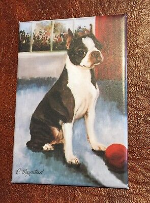 Best Friends Ruth Maystead Magnet NEW BOSTON TERRIER