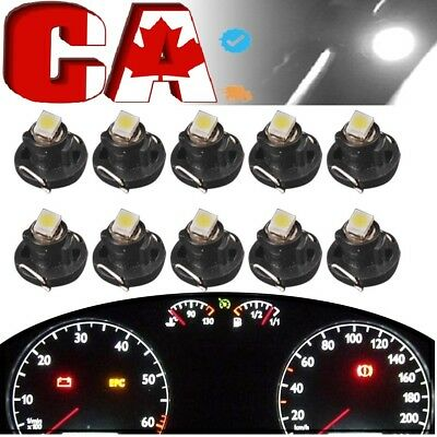 10x 6000K WhiteT4.2 Wedge LED Bulb Cluster Instrument Dash Climate Base Lights