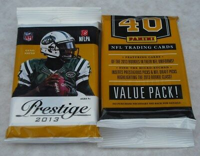 Panini Prestige 2013 Nfl Trading Cards Lot Of 9 Jumbo Packs New & Sealed