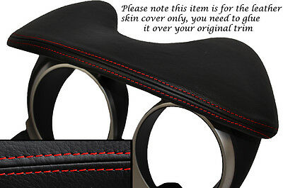 Red Stitching Speedo Hood Leather Skin Cover Fits Nissan Juke 2010-2014
