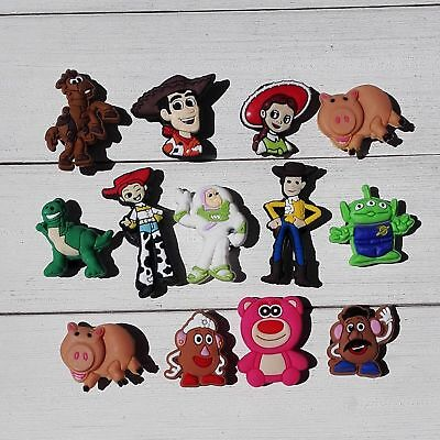 13pcs/lot Toy Story PVC Shoe Charms for holes on Shoes Bands Bracelets Xmas Gift