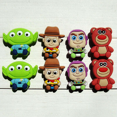 8pcs/lot Toy Story PVC Shoe Charms for holes on Shoes Bands Bracelets Xmas Gifts