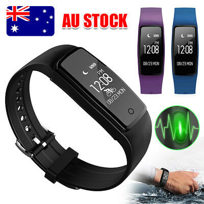 Sports Fitness Tracker Watch Waterproof Heart Rate Activity Monitor S1 AU SELLER