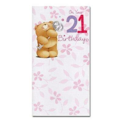 Forever friends 21st twenty first granddaughter birthday card by age 21st birthday adorable forever friends hallmark 21 key card bookmarktalkfo Gallery