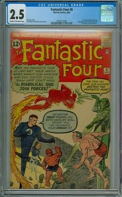 Fantastic Four #6 - CGC Graded 2.5