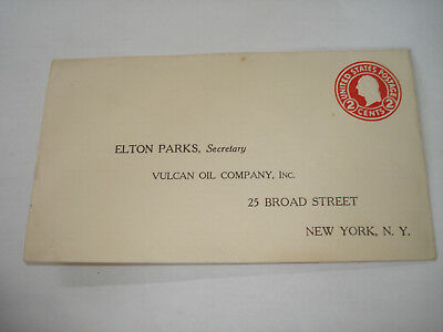 VULCAN OIL Co NY c 1920 AD COVER Citgo EXXON MOBIL Texaco gas stations E Parks !