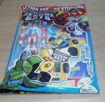 Transformers Rescue Bots magazine comic #10 2018 + Action Toy & 30 Stickers