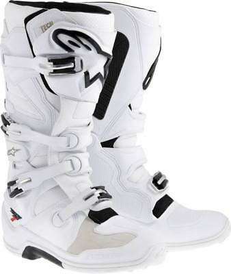 Alpinestars Tech 7 Motocross Stiefel weiss  MX Enduro Gr. 43 / 9