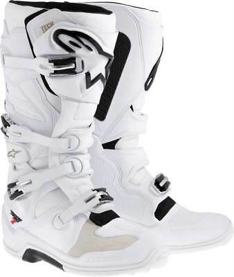 Alpinestars Tech 7 Motocross Stiefel weiss MX Enduro Gr. 44,5 / 10