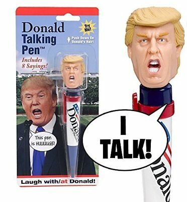 Donald Talking Pen, 8 Different Sayings, Trump's Real Voice, Just Click And