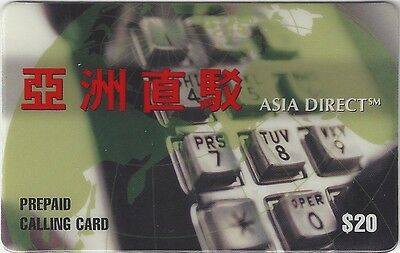 TK 167 Telephonkarte/PhoneCard C&W 20$ Asia Direct CoLogo with Hong Kong Telecom