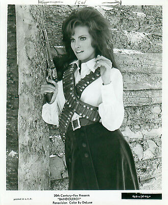 1968 Movie Still Raquel Walsh in Bandolero Gun Scene James Stewart Dean Martin