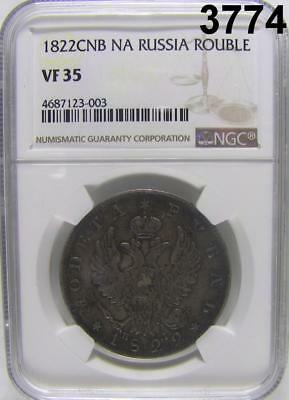 1822 Cnb Na Russia Rouble Ngc Certified Vf 35 #3774