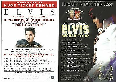 Elvis Presley  Philharmonic  Priscilla Shawn Klush Sweet Inspirations  Flyer x 4