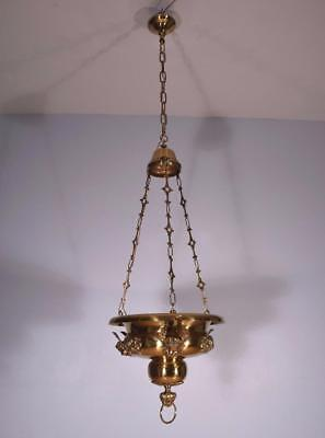 *French Antique Bronze Eglise (Church) Chandelier/Incense Burner with Angels
