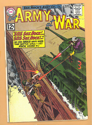 Our Army At War #116 Dc Comics Silver Age Vg Rare L@@k
