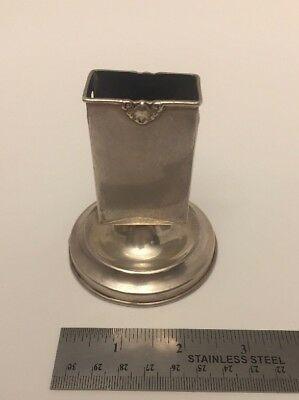 HERBST & WASSAL Antique STERLING SILVER 512 Match Box Holder Ashtray 193 Grams
