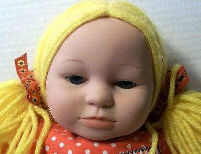 Anne Geddes Unimax 16 Inch Cloth Rag Doll Blonde Hair 1999