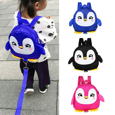 Penguin Baby Toddler Walking Safety Backpack With Leash Little Kid Boys Girl Bag