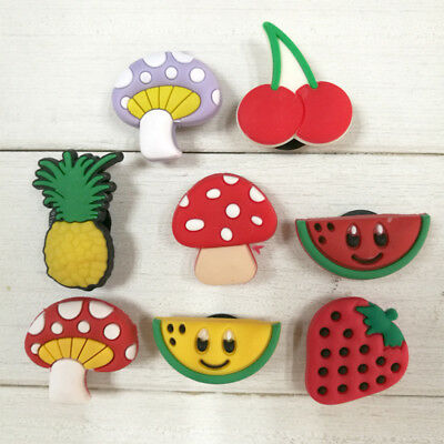 8pcs/lot Fruits PVC Shoe Charms for Croc & Jibbitz Bands Bracelets Xmas Gifts