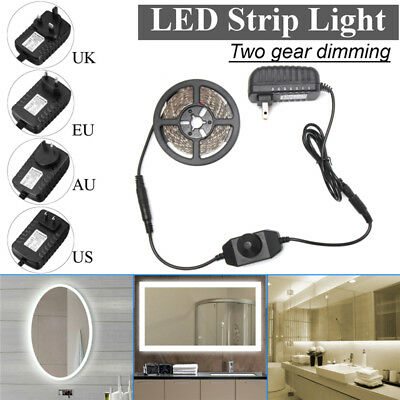 4M LED Strip Vanity Mirror Light Kit Makeup Table Light with Dimmer+Power Supply