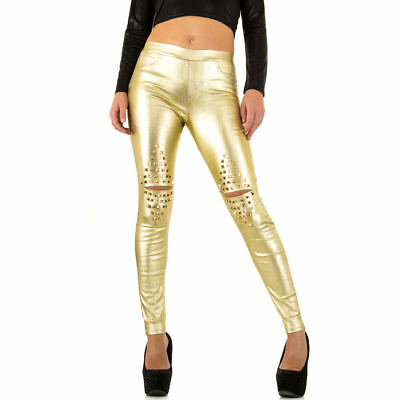 Only Damen Coated Biker Jeans New Royal Skinny Rocker Hose Röhre Lederoptik