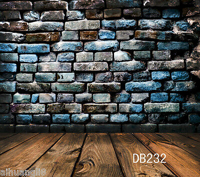 Vintage Brick Wall Wooden Vinyl Photography Backdrop Background Props 10X10FT