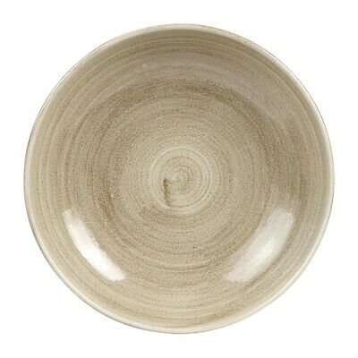 Churchill Stonecast Patina Antique Coupe Bowls Taupe 248mm (Pack of 12) BARGAIN