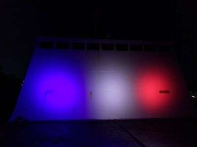 PROJECTEUR BLEU BLANC ROUGE   100W LED  illumination