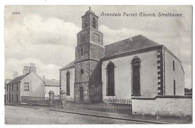 STRATHAVEN Avendale Parish Church, Old Postcard by Sellars Postally Used 1908