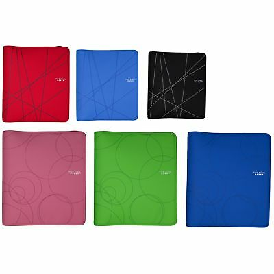 "Five Star 29058 8-1/2"" X 11"" 3 Ring Zipper Binder Assorted Colors"