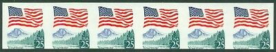 EDW1949SELL : USA 1988 Sc #1280c Imperf strip of 6 Pre-phoshered paper Cat $60
