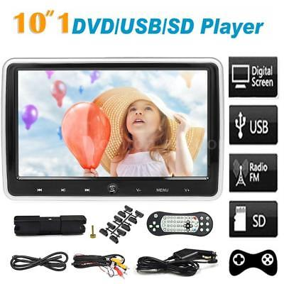 "10.1""Inch Digital Screen Car LCD Headrest USB SD HD Monitor Game DVD Player C0X7"