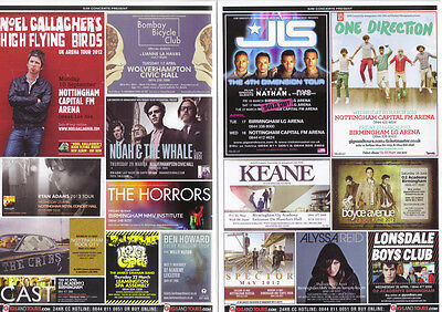 One Direction  JLS Keane Noel Gallagher Ryan Adams Bombay Promo Flyer / Handbill