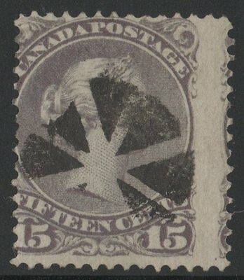 MOTON114    #29 Large Queen 15c  Canada used  fancy cancel