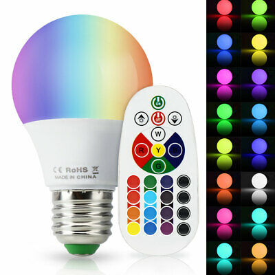 USA 5W E26 E27 LED RGB Light Bulb 16 Color Changing Magic Lamp + Remote Control