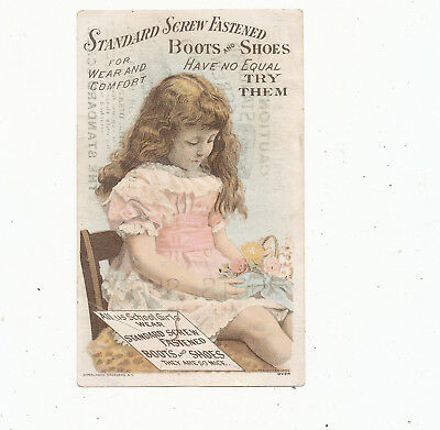C8084   Victorian Trade Card N.e  Galloway   Boots & Shoes Claysville Ohio