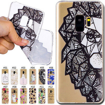 Silicone Rubber Soft Skin Back TPU Protective Cover Case For Samsung Galaxy S9